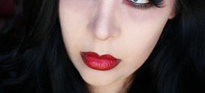 Макияж вампирши на хэллоуин