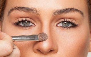 Как зрительно уменьшить нос с помощью макияжа