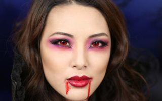 Создание макияжа вампира на хэллоуин