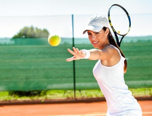 красивая теннисистка