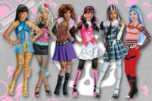 шесть девочек из мультика