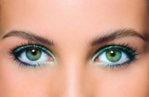 дневной мейкап зеленых глаз