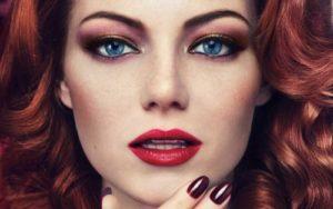 Макияж для рыжеволосых с зелеными глазами