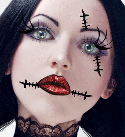 основа мейкапа на хеллоуин - бледная фарфоровая кожа