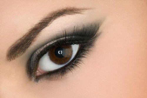 карий глаз с тёмными тенями