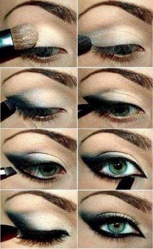 макияж зелеными тенями