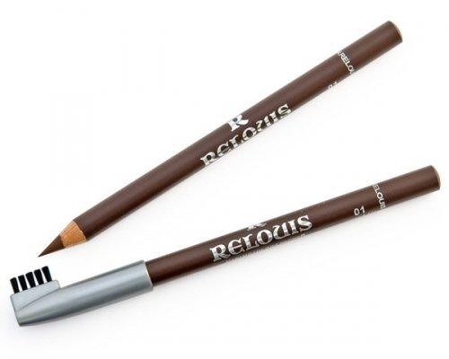 карандаш и щёточка для бровей