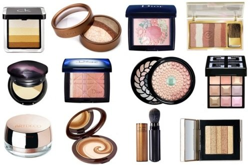 разнообразие средств для придания мерцания коже