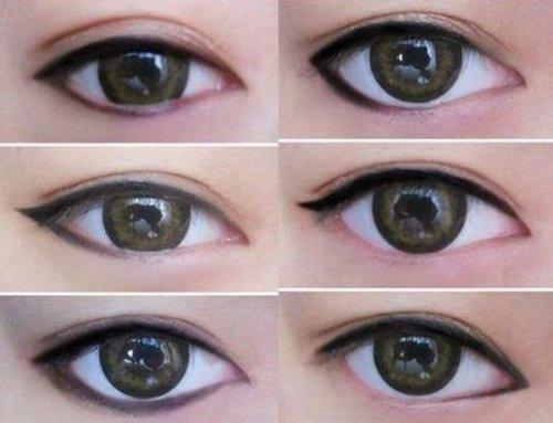 шесть видов стрелок для дневного макияжа