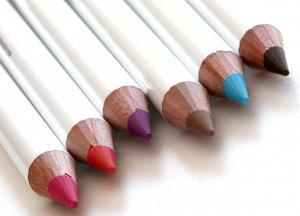 шесть цветов карандашей