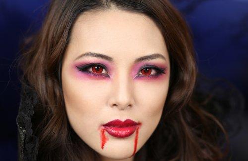 вампирский макияж на хэллоуин
