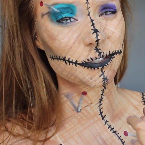 образ куклы вуду на хэллоуин