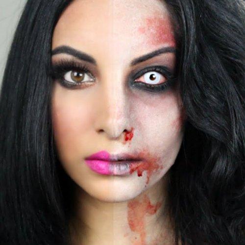 макияж девушки зомби