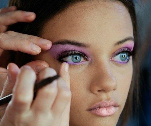 яркие тени для серо-голубых глаз