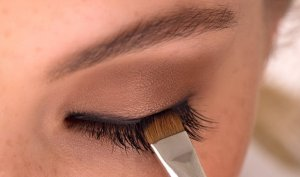 макияж с нарощеными ресницами
