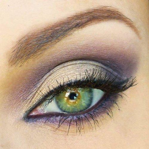 smokey eyes для зеленых глаз