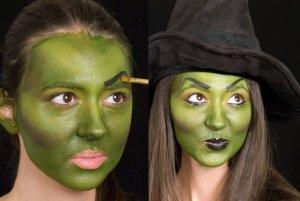зелёный цвет лица ведьмы