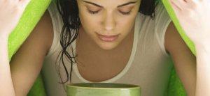 пар с эфирными маслами полезен жирной коже