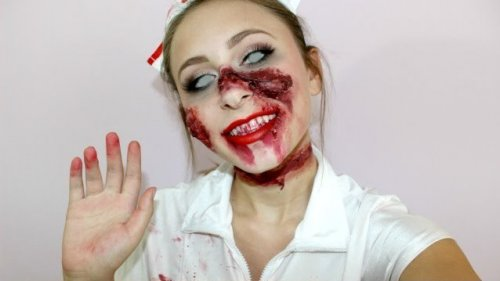 макияж для празднования хэллоуина
