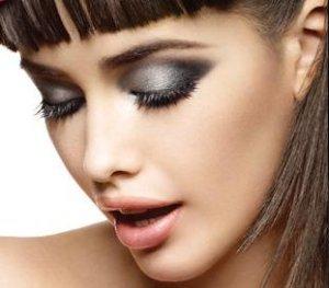 вечерний макияж для сероглазых девушек