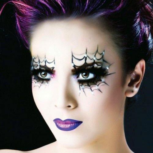макияж на хэллоуин в стиле паутины