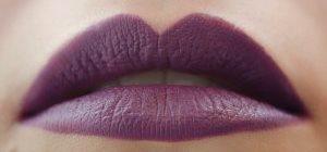 матовые пурпурные губы