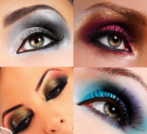 разноцветные тени на глазах