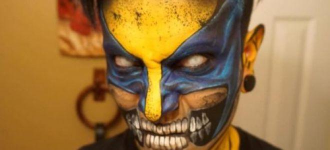 Интересный макияж для мужчин на Хэллоуин