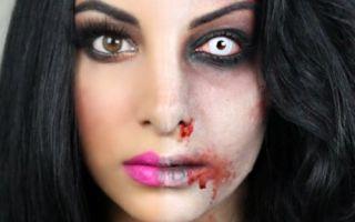 Зомби — пошаговый макияж