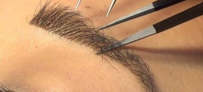 Техника наращивания бровей