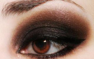 Смоки айс — макияж для карих глаз